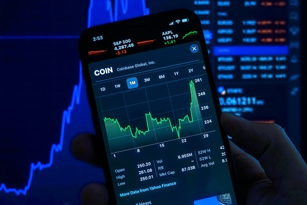 Stock Market Charts on a phone